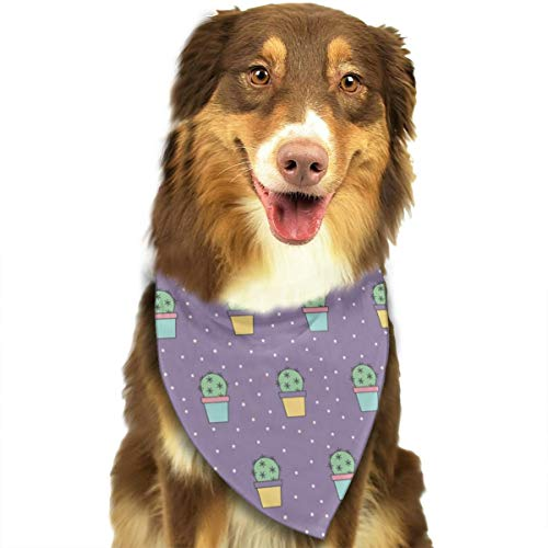 TNIJWMG Cactus Pattern Design Bandana Triangle Bibs Scarfs Accessories for Pet Cats and Puppies -