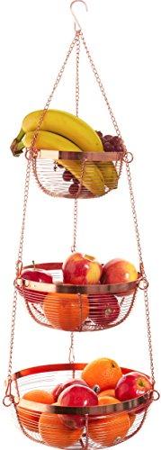 Useful. 3 Tier Hanging Fruit Basket (Bronze)