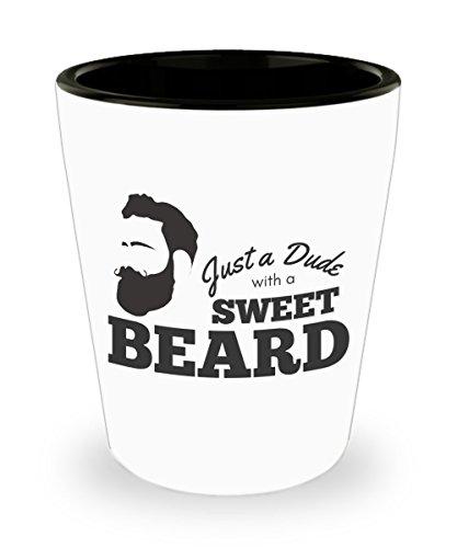 Funny Beard Shot Glass, Beard Humor, Gift for Him, Dude with Beard Shot Glass, Gift for Bearded Guys, Gift for Husband, Gift for Boyfriend, Father's -