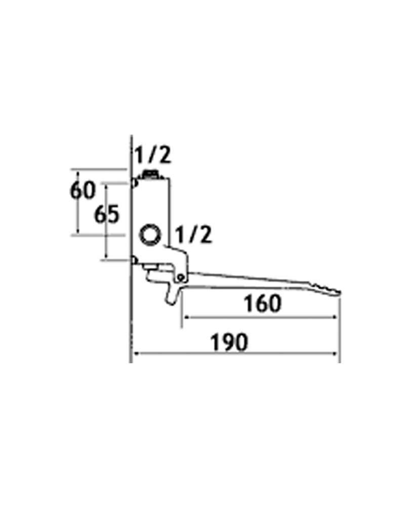 Rubinetto Miscelatore Progressivo A Pedale A Muro O Pavimento Tremolada 486