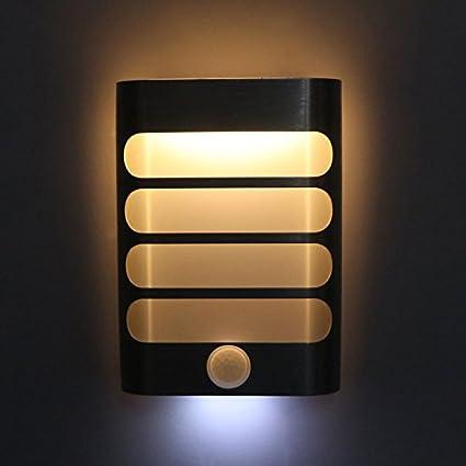 Xuba Lámpara de Noche Moderna, Sensor de Movimiento, luz LED de Pared, Funciona