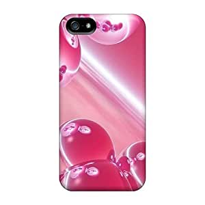 Iphone 5/5s Cover Case - Eco-friendly Packaging(pink Bubbles)