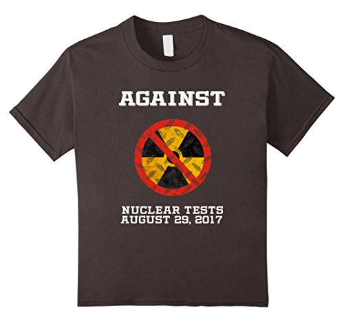 unisex-child Against Nuclear Tests Day August 29, 2017 Tshirt 12 Asphalt