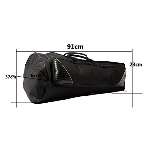 Dovewill Black Oxford Fabric Tenor Trombone Gig Bag Musical Instrument Protection Accessory by Dovewill (Image #6)'
