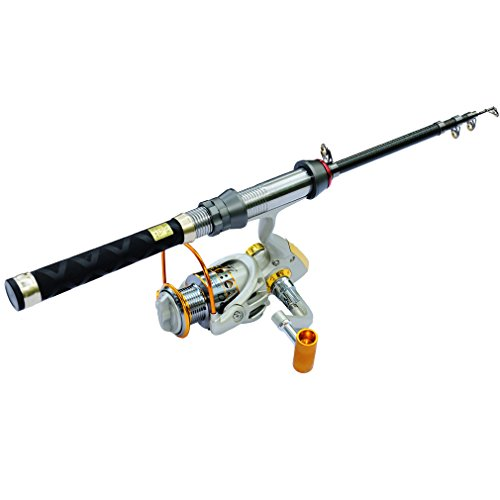 OutMall Kids Fishing Rod and Reel Combos, 4.27FT Portable Travel Telescopic Fishing Rod & Spinning Reel Combo for Teens, Beginner, Boat Freshwater Fishing Pole Gear Kit, 11+1 BBs, 5:5:1 Gear Ratio