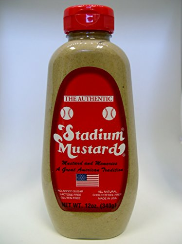 Stadium Mustard Squeeze, 12-Ounce (Pack of 6)