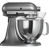 kitchenaid mixer artisan silver - KitchenAid 5KSM150PSMS Artisan Stand Mixer, 5-Quart, Medallion Silver
