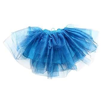 Le Coccole Kids Atelier Blue Cotton Skater Skirt For Girls