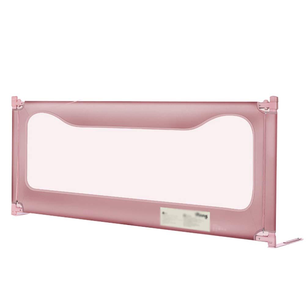 ベッドフェンス- 幼児用安全ベッドレールガード、垂直昇降ベッドガードレール、200cmロング3色オプション(1面) (色 : Pink)  Pink B07KSQB18C