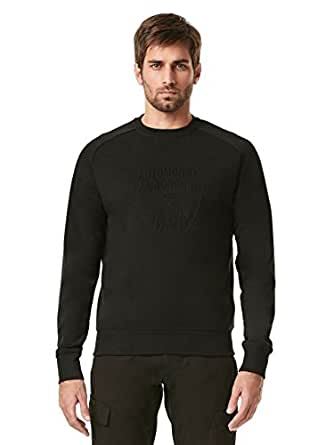Automobili Lamborghini Mens Embossed Shield Sweatshirt XL Black