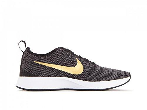 Nike Womens Dualtone Racer Se Scarpe Da Corsa Taglia 12 M Nero / Metallizzato Oro-grigio Scuro-bianco, Nero