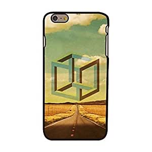 PG Cube and Road Style Plastic Hard Back Cover for iPhone 6 Plus