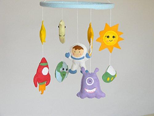 Planets Mobile Baby Crib Mobile Solar Systems mobile Space nursery mobile Earth Stars Moon Planets Nursery Decor Rocket Ship Mobile