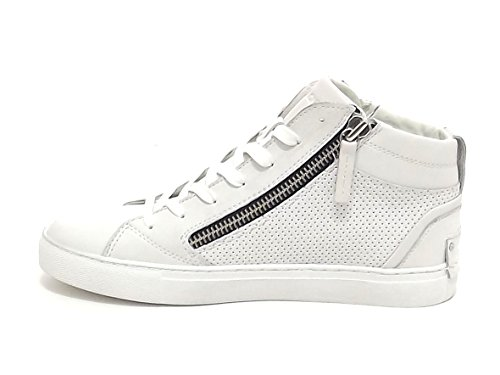 Crime Uomo, 11260, Sneakers Pelle Bianco E8102