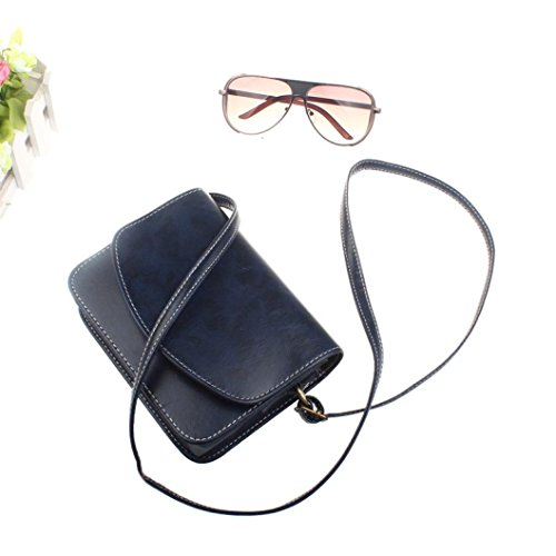 Body Casual Leather Cross Girls Shoulder Handbags Bags Fashionable for Bag TOPUNDER by Teen Women Blue Mini T 8wCqYExf