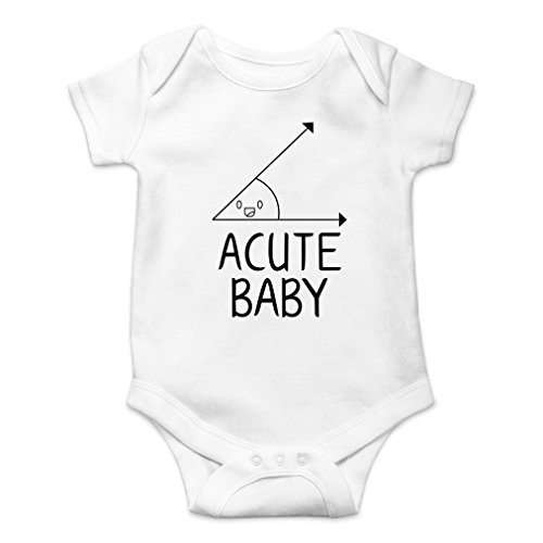 AW Fashions Acute Baby - Math Lovers Nerd Cute Novelty Funny Infant One-Piece Baby Bodysuit (Newborn, White) ()