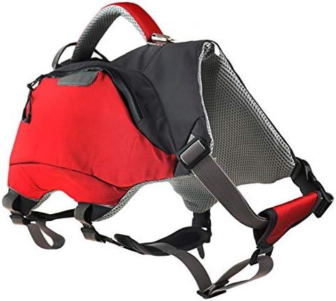 Lifeunion Adjustable Dog Backpack Life Jacket Outdoor Waterproof Hiking Camping Dog Saddle Bag Pack for Medium Large Dogs