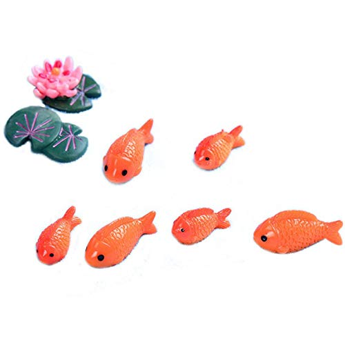 - TOOGOO 8pc/lot Red Fish Miniature Figures Decorative Mini Fairy Garden Animals Moss Micro-Landscape Ornaments Resin Baby Toy