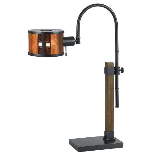 Cal Lighting BO-2451TB Mica Desk Lamp, 60-watt, Mica/ - Table Lamp Cal Wood Lighting