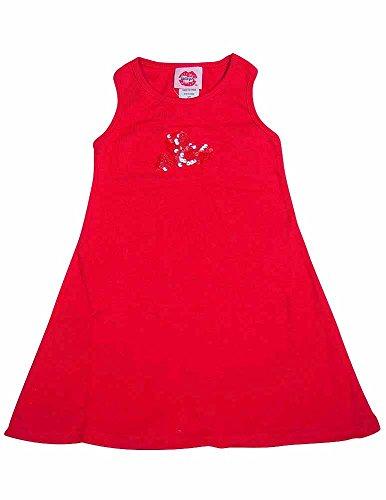 Lipstik Girls - Little Girls Dress, Red 10588-2T - Lipstik Girls Clothes