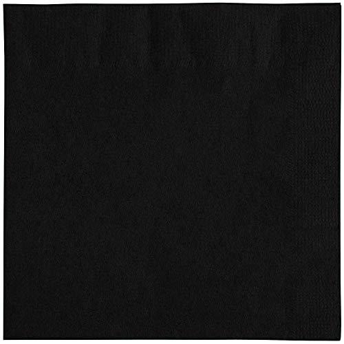 - Black Cocktail Beverage Napkins: + EBook (Black, 250ct, 2 Ply, 10