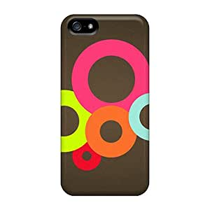 Sanp On Case Cover Protector For Iphone 5/5s (colorful Circles)