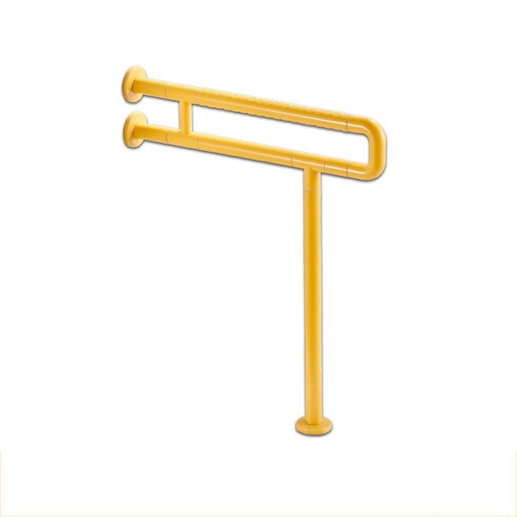 JYJgrab bar JYJ-Shower Grab Bars, Stainless Steel Folding U-Shaped Handrail Shelf (Reinforced Bracket Type) Disabled Bathroom Elderly Pregnant Women (Size: 60cm, White) (Color : Yellow)