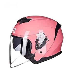 Casco Retro Jet Visera de protecci/ón Solar Unisex,XL ZDHG Casco Moto,Casco Abierto para Motocicletas Casco Retro