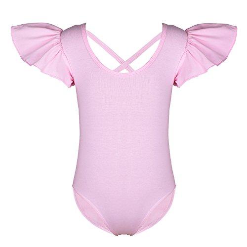 Tfjh Petites Filles Dansent Gymnastique Justaucorps Rose Classique Bodysuit