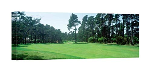 Easy Art Prints Panoramic Images's 'Spyglass Golf Course Pebble Beach CA USA' Premium Canvas Art - 24