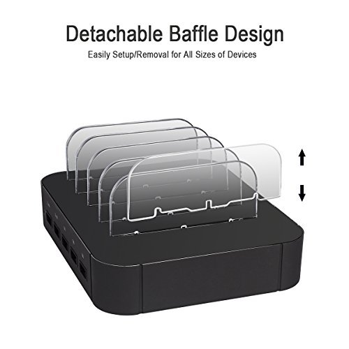 5 Port USB Charging Station Charge Dock Organizer, sanipoe Cell Phone  Charger Multi Port Desktop Docking Devices - Compatible with Smartphone,  iPad,