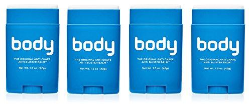 BodyGlide Original Anti-Chafe Balm, 4Pack (1.5 oz) by BodyGlide