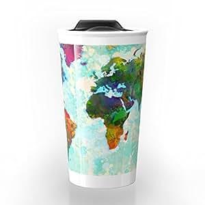 Amazon society6 abstract watercolor world map travel mug 12 oz society6 abstract watercolor world map travel mug 12 oz gumiabroncs Image collections