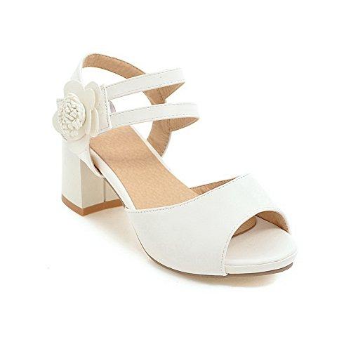 sólidas BalaMasa Sandalias Vestido Forro uretano ASL05188 de frío mujer Blanco en de 1gqw1Oz