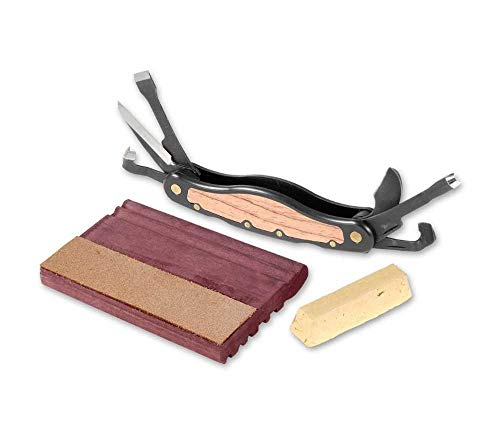 Flexcut Right-Handed Carvin' Jack, Folding Multi-Tool for Woodcarving, 4 1/4 Inch Closed Length, 6 Blades Included (JKN91) (Wood Cut Groove)