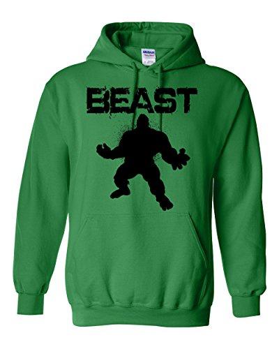 Terminator Outfit (Unisex Hoodie BEAST Hulk Fleece Sweatshirt 4XL Irish Green)