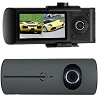 GBSELL 2.7 Vehicle Car DVR Camera Video Recorder Dash Cam G-Sensor GPS Dual Len Camera