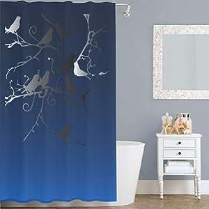 Right Canvas Blue 180cm x 200cm Shower Curtain - RG138NPIC00076