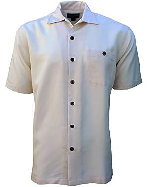 Foxfire Indygo Smith Poly/Rayon Herringbone Mens Shirt