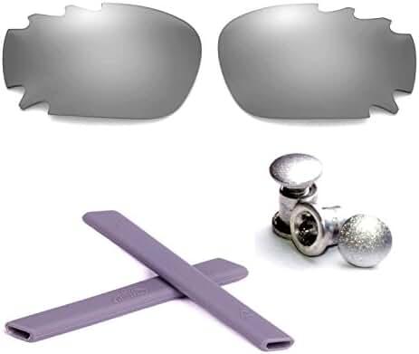 Walleva Polarized Vented Lenses + Rubber + Bolt For Oakley Jawbone - Multiple Options Available