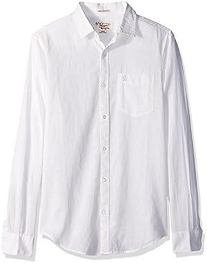 Men's Long Sleeve Cotton Linen Chm