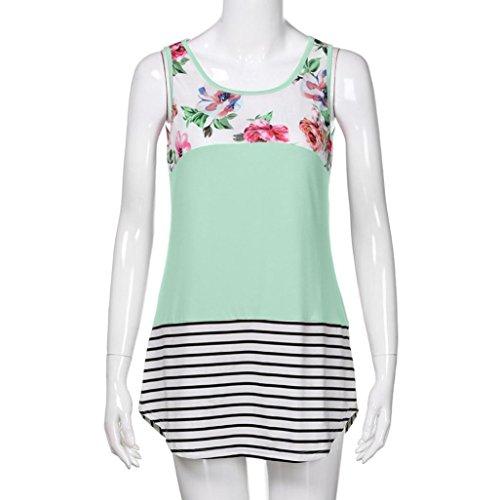 Shirt Dbardeur Tops T Sexyville Hem Col Rond Femmes Mode Sans Vert Chemisier pissure Impression Et Manches Femme Irrgulier UxaCqFxn