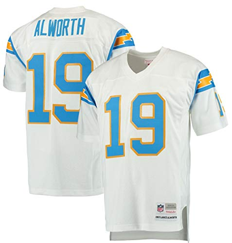 Mitchell & Ness San Diego Chargers 1963 Lance Alworth #19 Replica White Throwback Jersey (XX-Large) ()