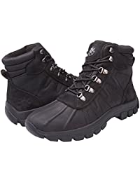 Mens Warm Waterproof Winter Leather High Height Snow Boot