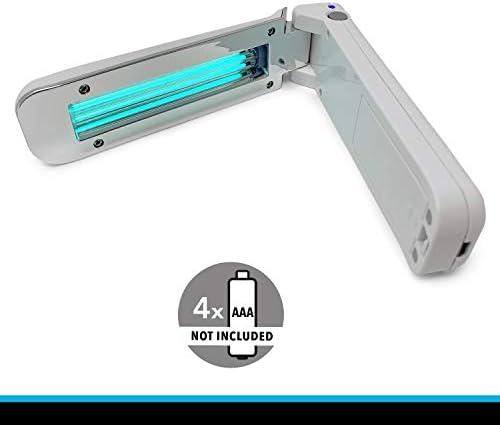 CROWN LED UV-C Desinfektionslampe tragbar, Tötet nachweislich bis zu 99,9% Viren, Bakterien und Keime auf verschiedensten Oberflächen, 253,7nm UV C