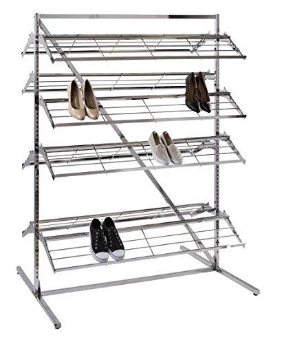 SSWBasics Chrome Shoe Rack Organizer Merchandiser (Holds 60-80 Pairs of Shoes) by SSWBasics (Image #1)