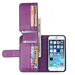 MOM NEW Color PU Leather Wallet with Stand Full Body Cover for iPhone 6(Assorted Colors) , Blue
