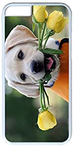 Animals Rose Dog Puppy Labrador Case for iPhone 6 Plus PC Material White by icecream design