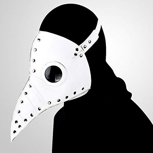 GDSZ Steampunk Plague Doctor Mask PU Leather Birds Beak Masks Halloween Cosplay Carnaval Costume Props,Brown