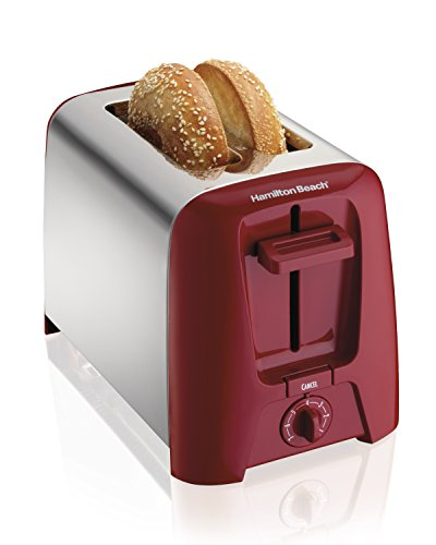 Hamilton Beach Cool Wall 2-Slice Toaster, Red (22623) by Hamilton Beach